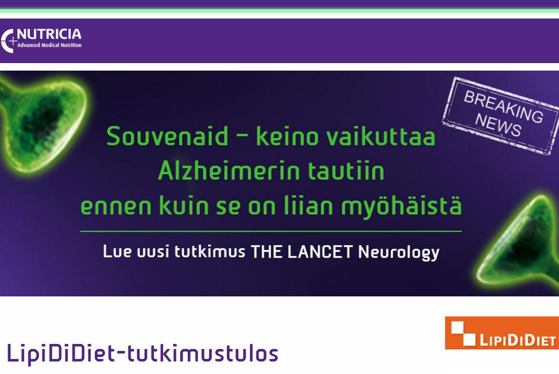 LipiDiDiet–tutkimus on julkaistu Lancet Neurologyssa