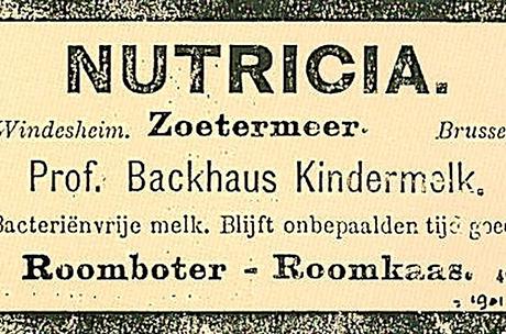 Nutricia saa nimen Nutricia NV vuonna 1901