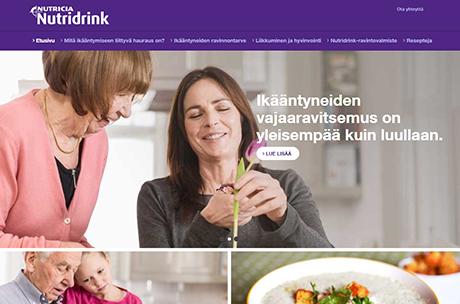 Nutridrink.fi nettisivut