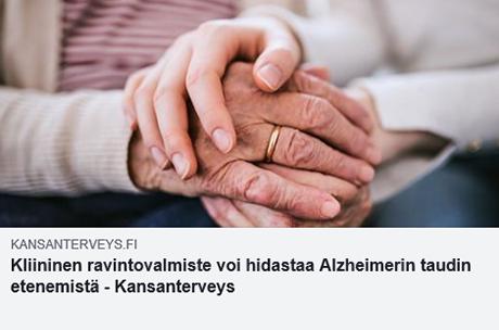 Alzheimerin taudin etenemistä voidaan hidastaa oikeilla hoidoilla