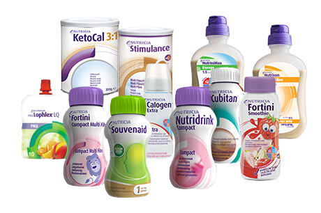 Nutricia Medical täydennysravintovalmiste ja letkuravintovalmiste tuotevalikoima