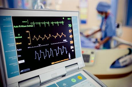 Tehohoito-osaston potilas monitori