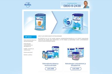 nutrilon.fi verkkosivut